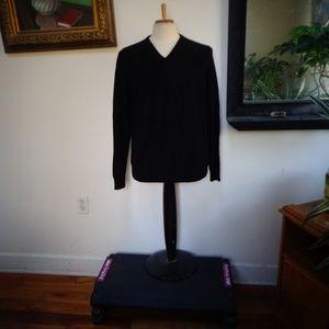 APT. 9  Man's Black 100% Cashmere Sweater Size L